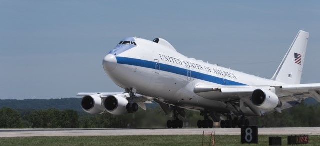 """TheBoeing E-4 Advanced Airborne Command Post(AACP), the current """"Nightwatch"""" aircraft, is a strategiccommand and controlmilitary aircraft"""