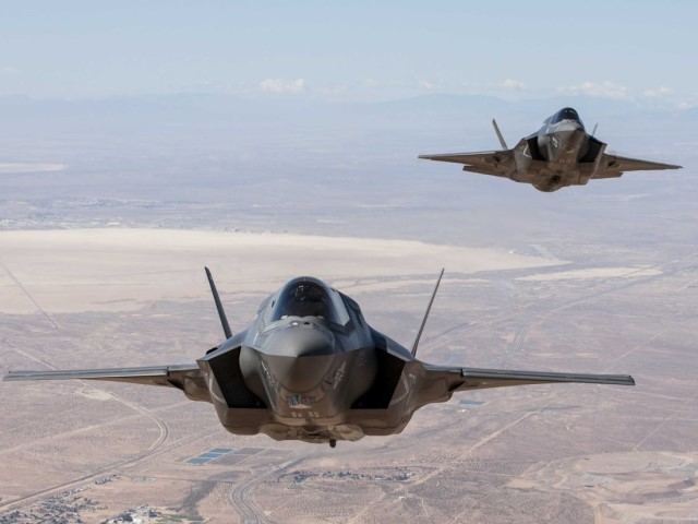 Currently F-35s are prohibited from flying near storms