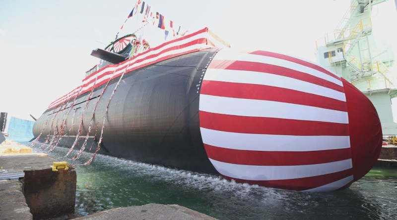 Japan launches first of its new class of submarines