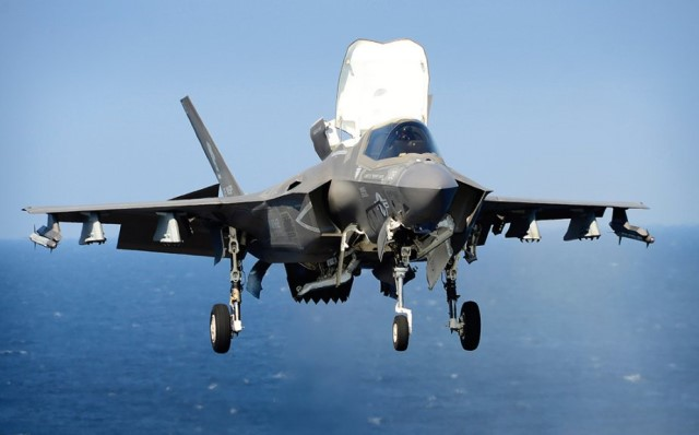 The F-35B is the short takeoff and vertical landing (STOVL) variant of the aircraft