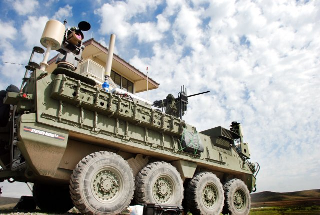 The U.S. Army has demonstrated the first prototype of a new laser weapon system based on the Stryker combat vehicle