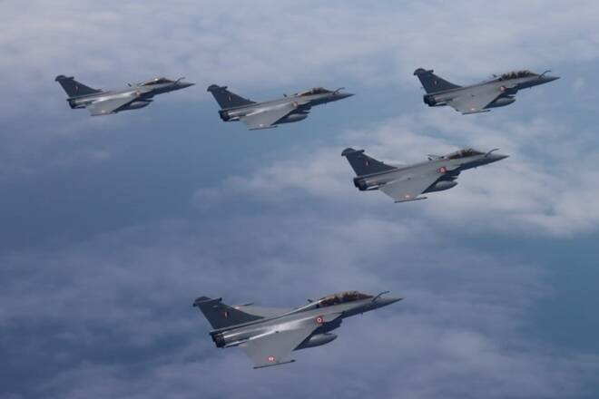 TheDassault Rafale is a Frenchtwin-engine,canarddelta wing,multirolefighter aircraftdesigned and built byDassault Aviation