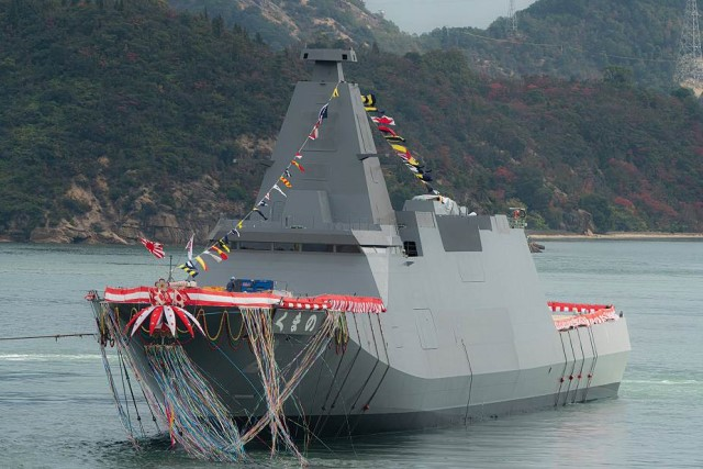 Japan launches its second 30FFM frigate Kumano for Japanese Navy