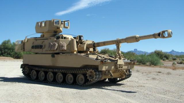 US Army conducts live-fire demonstration with its new M109A7 155mm self-propelled howitzer