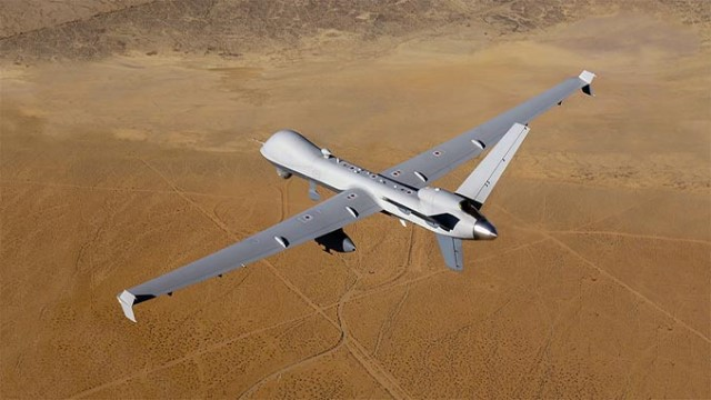 The General Atomics MQ-9 Reaper (sometimes called Predator B) is an unmanned aerial vehicle (UAV) capable of remotely controlled or autonomous flight