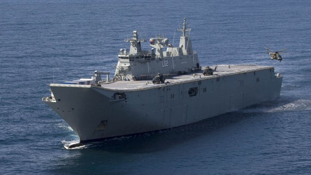 Canberra Class Amphibious Assault Ship