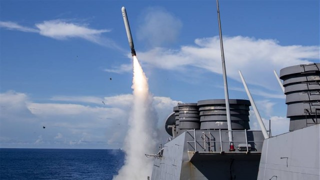 Tomahawk is a long-range, all-weather, subsonic cruise missile in service with the surface ships and submarines of the US and the UK's Royal Navy