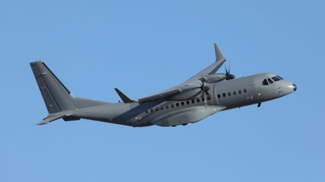 The new C-295M is a stretched derivative of the CN-235 transporter, with a characteristic high-wing, rear-loader design
