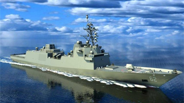 Final design and technical review of future Constellation-Class FFG 62 frigate for US Navy