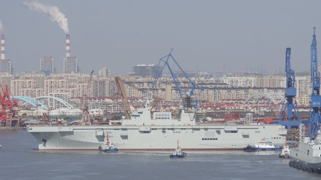 PLA Chinese Navy launches 3rd Type 075 amphibious assault ship